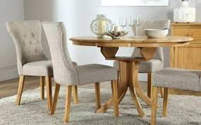 Round Tables Dining Rustic Extendable Room Extending Table Sets And Chairs