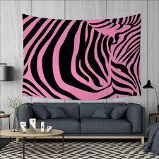 Amazoncom Anniutwo Pink Zebra Home Decorations For Living Room