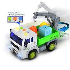 100 Truck Backing Up Sound FUNERICA Garbage Toy With Effects Lights Swivel