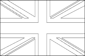 British Flag Coloring Page 2 Pages