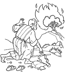 Burning Elegant Moses And The Bush Coloring Pages
