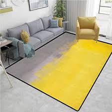 yucouhome teppich unter dem tisch grau und gelb gestreift