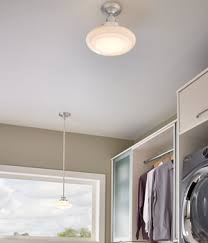 Utility Or Laundry Room Lighting With A Combination Of Light Fixtures