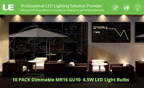 le mr16 gu10 dimmable light bulbs 6 5w 50w halogen bulbs