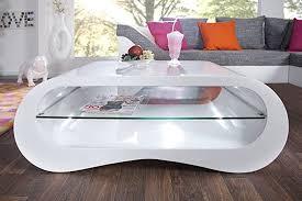dunord design couchtisch weiß modern hochglanz stylisch