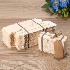 Details About 102050Pcs Wedding Favor Suitcase Kraft Candy Boxes Sweet Gift Box Party Supply