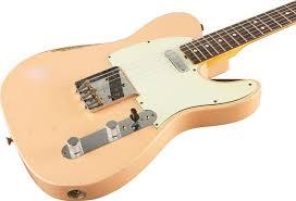 Fender Custom Shop Dennis Gaulszka Masterbuilt 1963 Telecaster Light Relic Electric Guitar Shell Pink