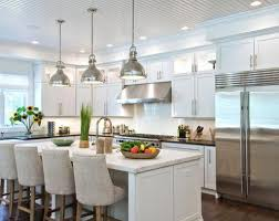 chrome finished pendant lighting ideas for contemporary kitchen