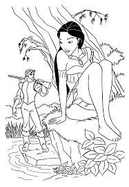 Extraordinary Disney Princess Pocahontas Coloring Pages Printable With And