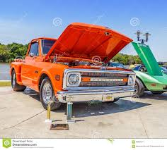 Tangerine Orange 1969 Chevy C/10 Short Bed Step Side Truck Editorial ...