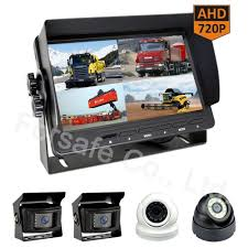 100 Truck Camera System China 7 Quad View Bus HeavyDuty Rearview