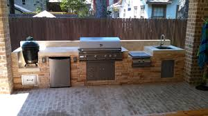 Extraordinary Big Green Egg Outdoor Kitchen Ideas Built In Amazing True Food Modern Lowes Cabinets Chicken Sink