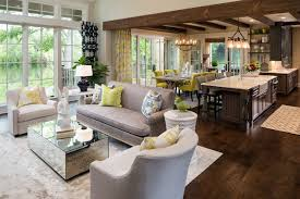 Inspiration For A Large Transitional Open Concept And Formal Dark Wood Floor Brown Living