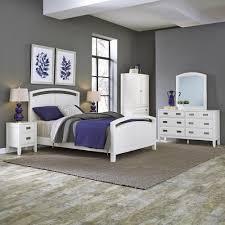 Home Styles Newport 5 Piece White Queen Bedroom Set 5515 5020