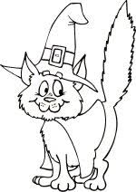 Halloween Cat Color The Picture