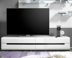 lowboard 2497aj 40 tv element weiß 180cm front mdf hochglanz