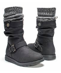 muk luks black sky knit cuff boot women zulily