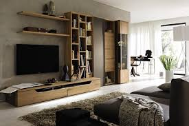canap avec biblioth que int gr e meuble salon tv bibliotheque idees de dcoration