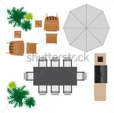 Outdoor Furniture For Landscape Design Stock Vector