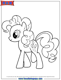 Pinkie Pie My Little Pony Cartoon Coloring Page