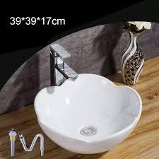 homelava aufsatzwaschbecken keramik waschbecken weiß floral