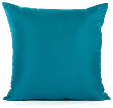 solid sateen turquoise accent throw pillow cover contemporary