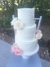 Rustic Buttercream Wedding Cake Houston