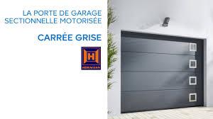 porte de garage sectionnelle carrée grise 654035 castorama