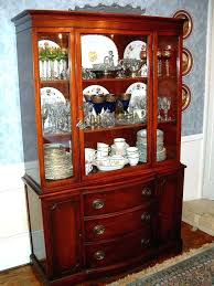 Black Dining Room Hutch China Cabinet Furniture Buffet Unique 2 Piece Set