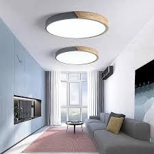 moderne minimalistische led trommelförmige holz metall