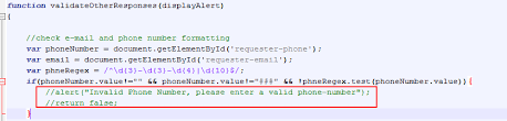 valid phone number invalid phone number error submitting service r bmc communities