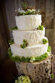 Woodland Rustic Wedding Cake