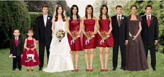 bridesmaid dresses apple red overlay wedding dresses