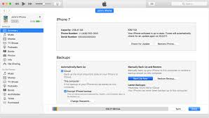 Make an iTunes backup of your previous device