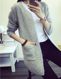 2017 fashion korean style fine long sweater coat loose sweater