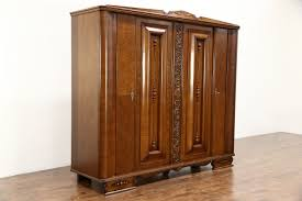 SOLD - Art Deco 1930 Vintage Carved Oak Armoire, Wardrobe Or ... Studio Twenty Two French Art Deco Armoire Beautiful Walnut Tallboy Compactum Compact Small Antique Bedroom Fniture Interior Design Art Nouveau Essay Symbolism Heilbrunn Timeline Of Grande Coiffeuse Loupe D Orme Moderniste Ancien Cool Waterfall Style Chifferobe Attainable Dressers Chests And Storage World Market Set Bed Nightstands 1 A Crotch Mahogany Cabinet From France At Armoires Deco This Armoire Is Featured In Solid Wood With Glossy