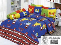 Twin Bedding set with Pikachu Froakie and Fennekin