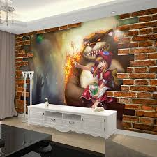 League Of Legends Wallpaper 3D Game Photo Dark Child Annie Brick Bedroom Bar Hotel