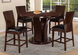 Daria Espresso Counter Height Round Dining Room Table W 4 ChairsCrown