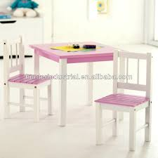Furniture Wooden Children Drawing Child Tables And 2 Chairs ...