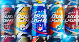 Brand New Bud Light NFL Team Cans