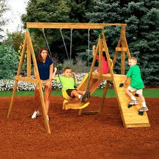 Swing Sets For Small Backyard - Amys Office Swing Sets Give The Kids A Playset This Holiday Sears My Tips For Buying And Installing A Set Or Outdoor Skyfort Ii Wooden Playsets Backyard Discovery Amazoncom Prestige All Cedar Wood Costco Gorilla Swings Frontier Walmartcom Creations Adventure Mountain Redwood Installation Interesting Playground Design With And Home Paradise Home Decor Amazing For Billys Ma Ct Ri Nh Me