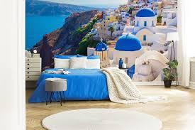 griechisches entzücken für schlafzimmer fototapeten demur