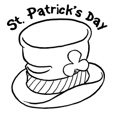 Leprechaun Hat Coloring Page Printable St S Day Pages For Toddlers