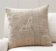 Pottery Barn Decorative Pillow Inserts by Viola Block Print Pillow Cover Pottery Barn