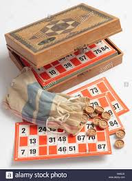 Lotto Or Bingo Board Game A Vintage French Example Of This In Box