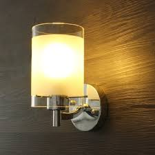 modern simple glass single wall l sconce light fitting