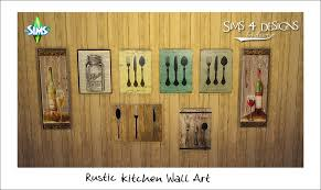 Sims 4 Designs Rustic Kitchen Wall Art