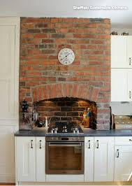 I Love The Brick Fireplace Thats Been Incorporated Into Kitchen Especially With Lights
