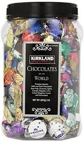 KIRKLAND Signature Chocolates Of The World In Assortment Jar 2 Lb